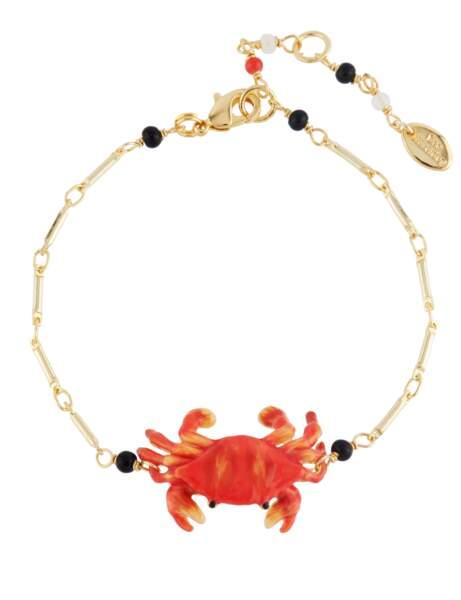 Tendance coquillages et crustacés : bracelet crabe