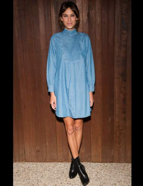 Alexa Chung et sa robe girly