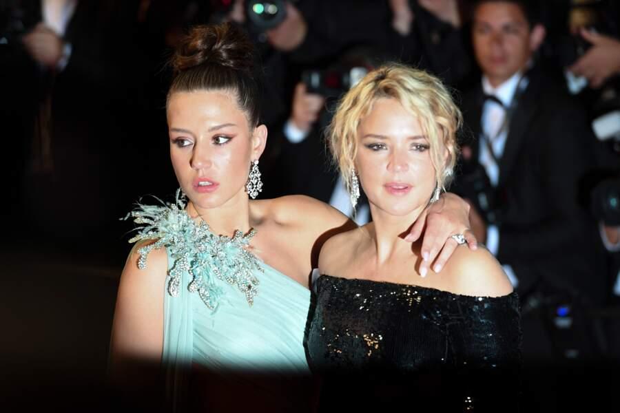 """Virginie Efira et Adèle Exarchopoulos à la première de """"Sibyl"""" lors du 72e festival de Cannes, le 24 mai 2019."""