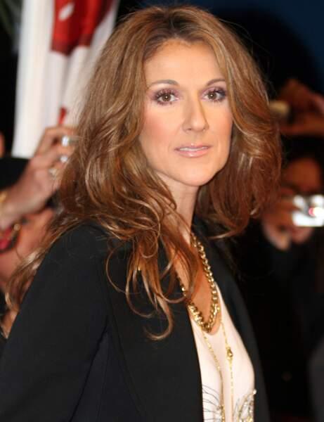 La crinière châtain de Céline Dion