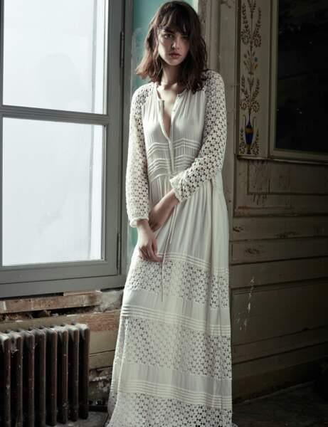 Robe blanche : bohême