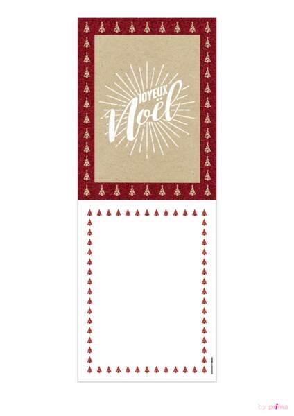 Carte de voeux tradi rouge joyeux noël