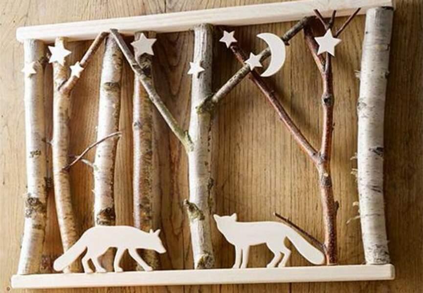 Un tableau de Noël en bois