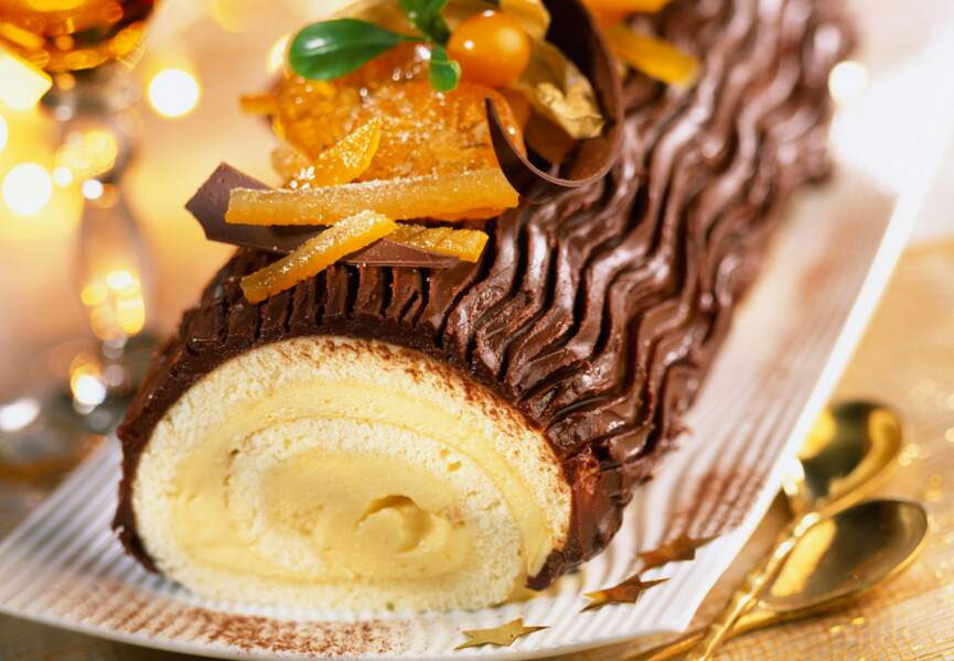 Bûche de Noël chocolat orange