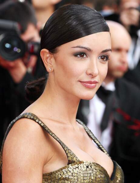 Sa queue-de-cheval lustrée au Festival de Cannes en 2006
