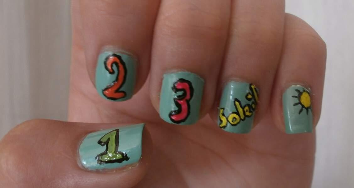 8e place pour le nail art 1,2,3 soleil