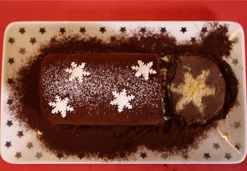Une bûche de Noël au chocolat, facile !