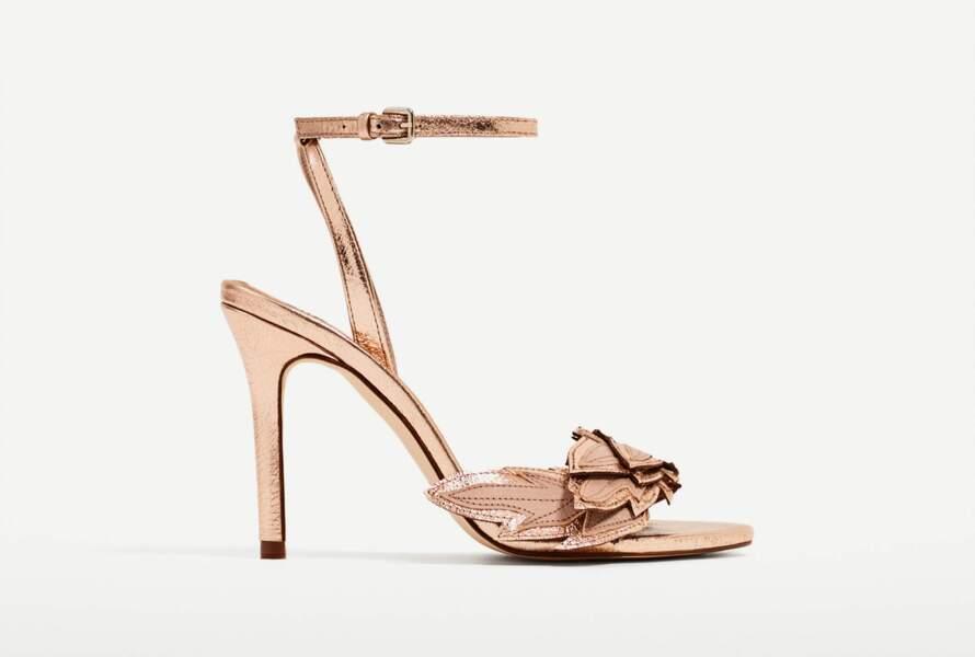 Sandales rose gold