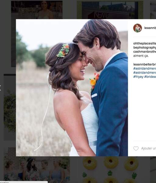 Coiffure de mariage pour cheveux longs : le headband romantique
