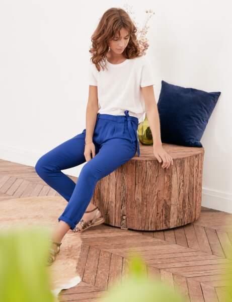 Pantalon : bleu électrique
