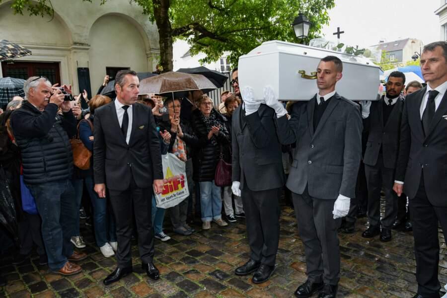 Obsèques de Dick Rivers en l'église Saint-Pierre de Montmartre, à Paris, le 2 mai 2019.