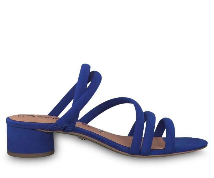 Mule : bleu royal