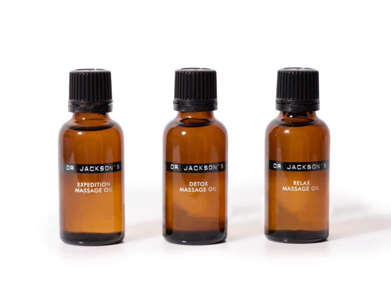 Une huile de massage