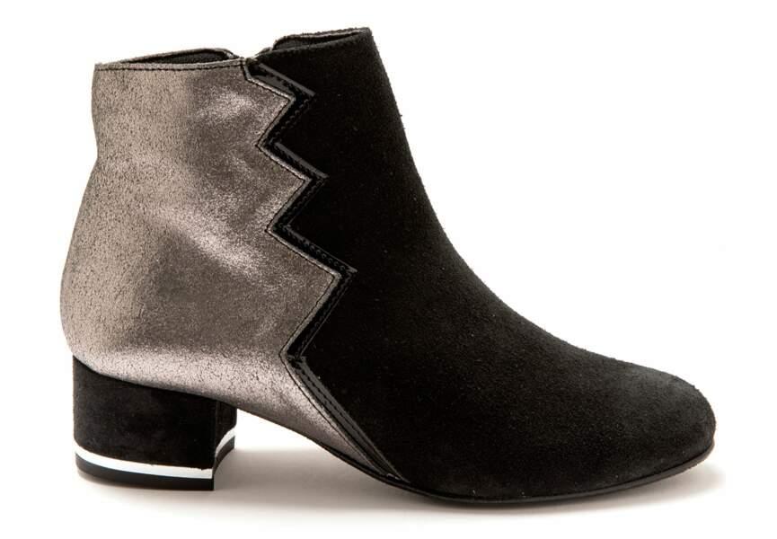 achat bottines femme avec revers sans talons confortables