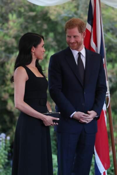 Le prince Harry et Meghan Markle, duchesse de Sussex lors d'une réception à Dublin, le 10 juillet 2018