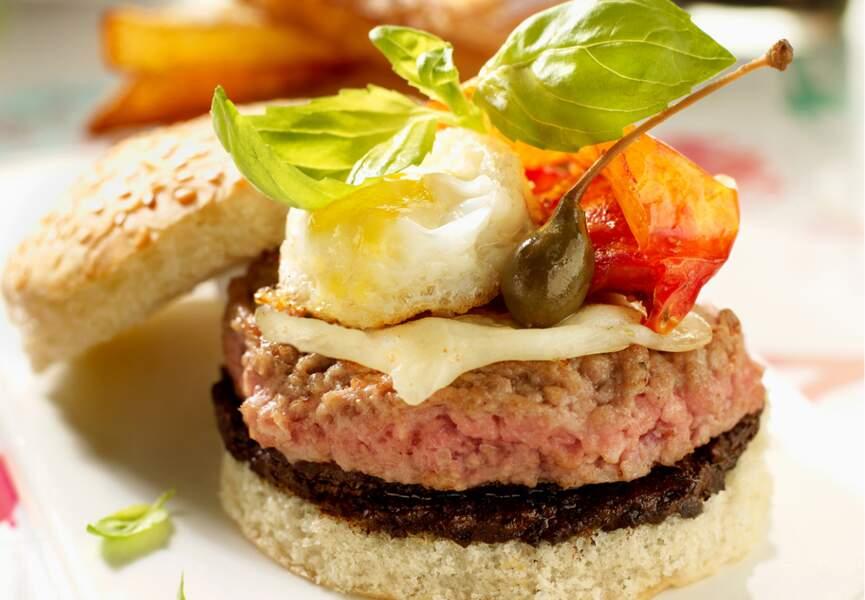 Burger de veau à l'italienne