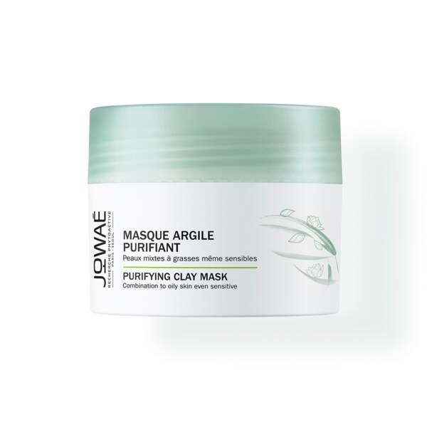 Masque Argile Purifiant, Jowaé, pot 50 ml, prix indicatif : 12,90 €