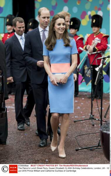 Kate Middleton en robe color block