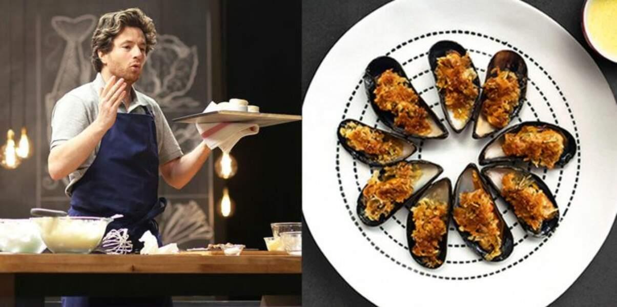 Moules gratinées au romarin et à la noix de coco par Jean Imbert