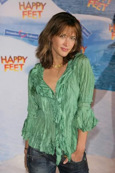 """Sophie Marceau à la première du film """"Happy feet"""" en 2006."""