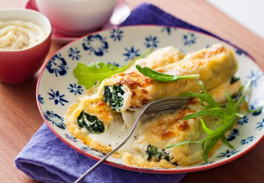 Cannellonis aux épinards