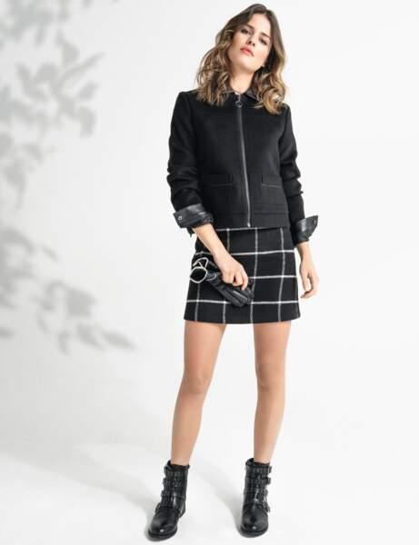 La veste zippée