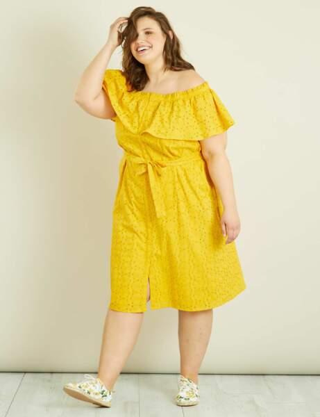 Mode grande taille : la robe jaune