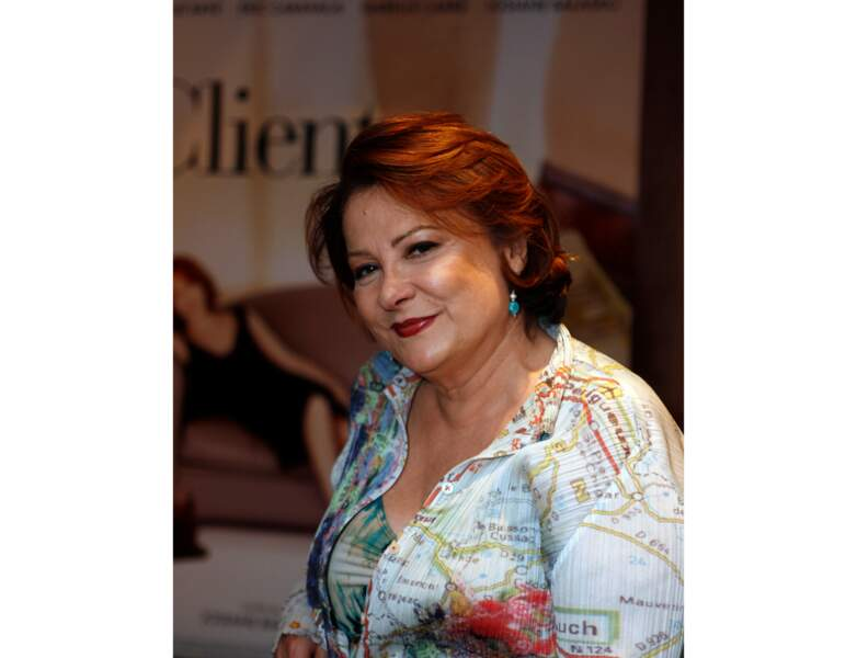 2008 : Josiane Balasko refait une coloration rousse, elle a 58 ans