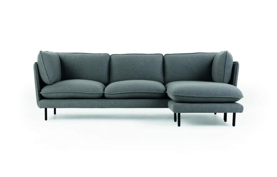 Canapé douillet gris