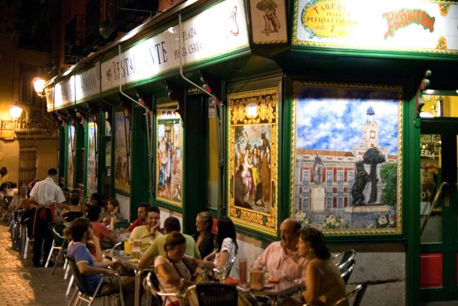 Bars et Tapas typiques de Madrid