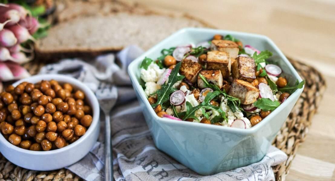 Salade de pois-chiche et chou-fleur