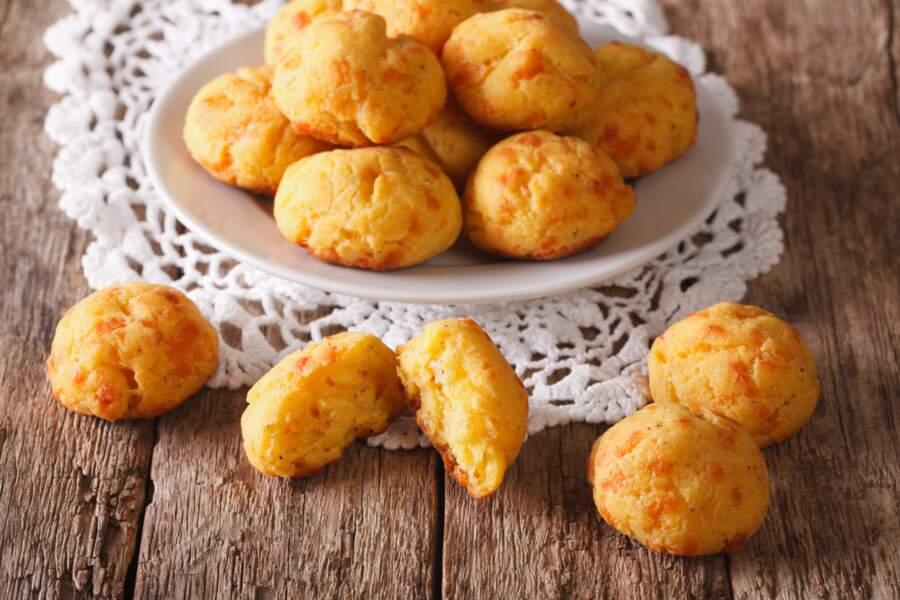 Petites gougères jambon-fromage