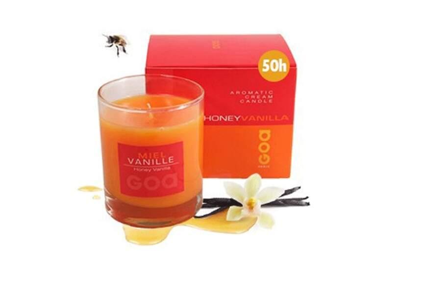 Une bougie miel/vanille