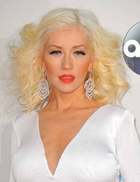 Le blond platine de Christina Aguilera