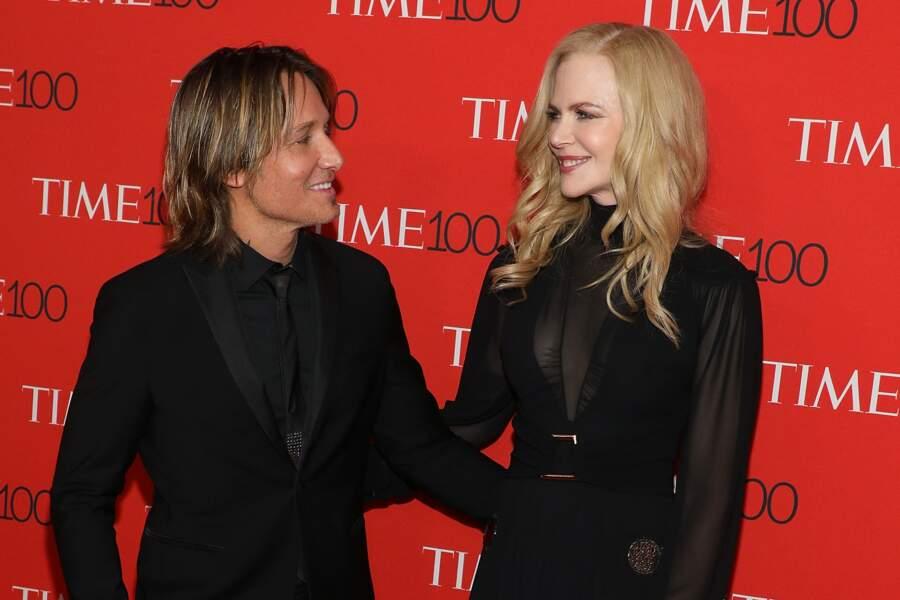 Nicole Kidman et Keith Urban assistent à la soirée de gala de Time 100 en 2018.