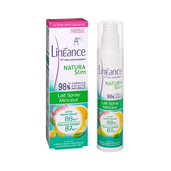 Natura Slim - Lait Spray Anti-Cellulite, Linéance, flacon 150 ml, prix indicatif : 14,90 €
