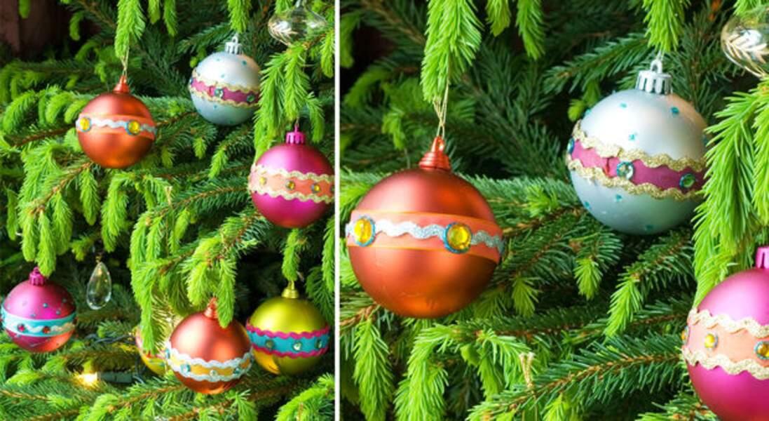 Facile et rapide, personnaliser des boules de Noël