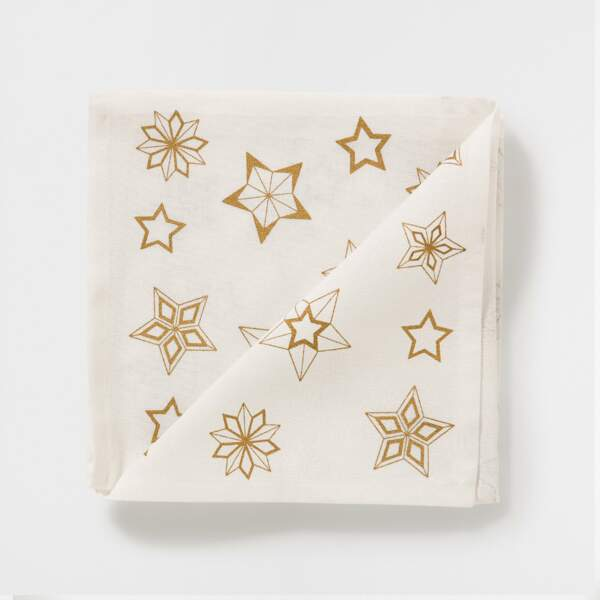 Serviettes en papier motifs étoiles