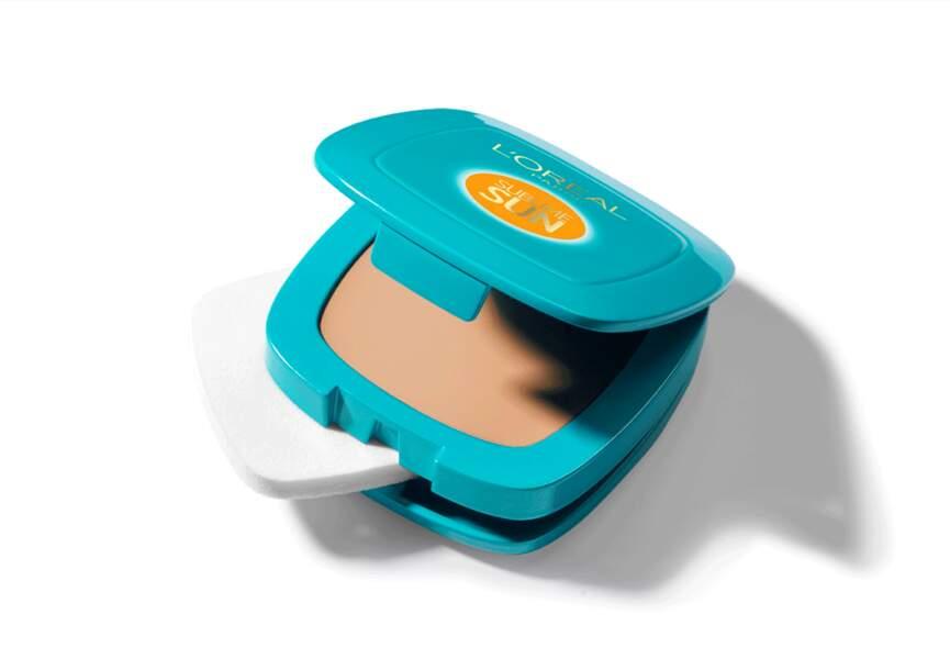 Crème teintée compacte multi-protectrice cellulaire Sublime Sun de L'Oréal Paris