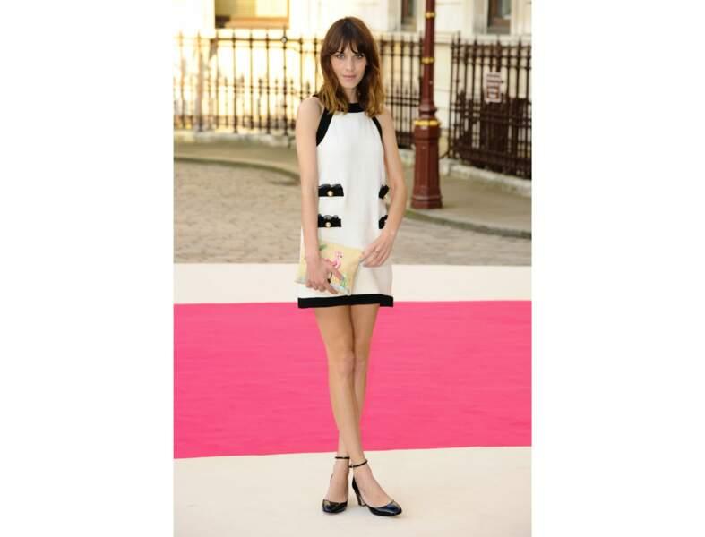 La robe courte rétro d'Alexa Chung