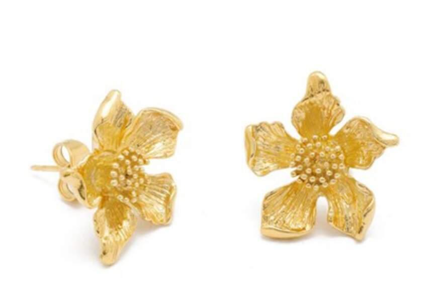 Boucles d'oreilles : fleur