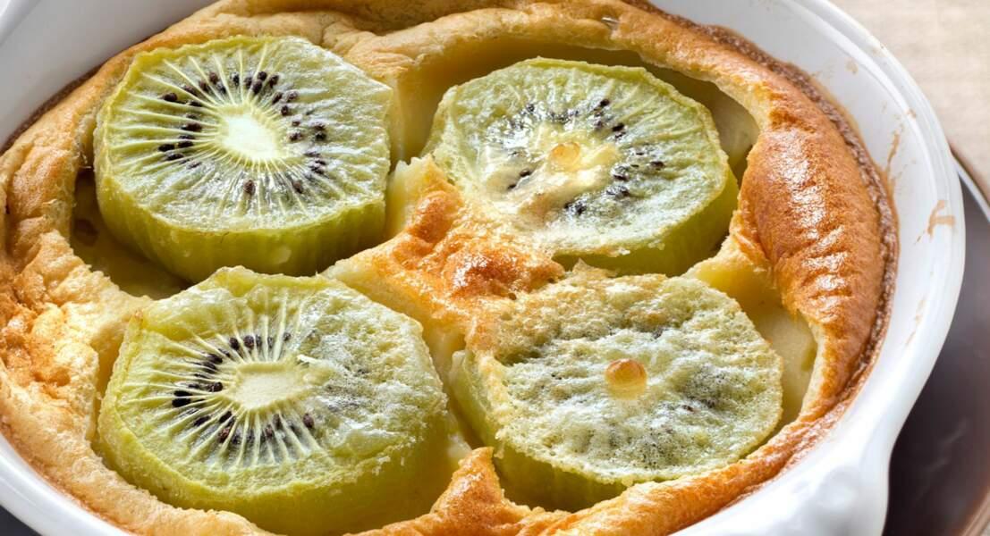 Gâteau aux kiwis et fève tonka