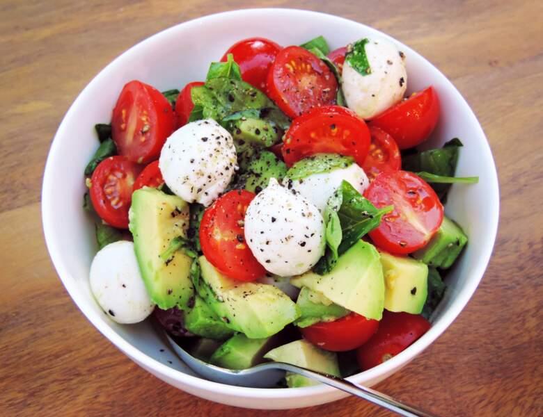 Salade avocat-tomates