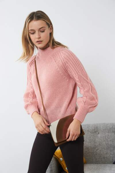 Gros pull : poudré