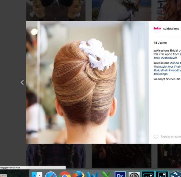 Coiffure de mariage pour cheveux longs : le chignon haut de gamme