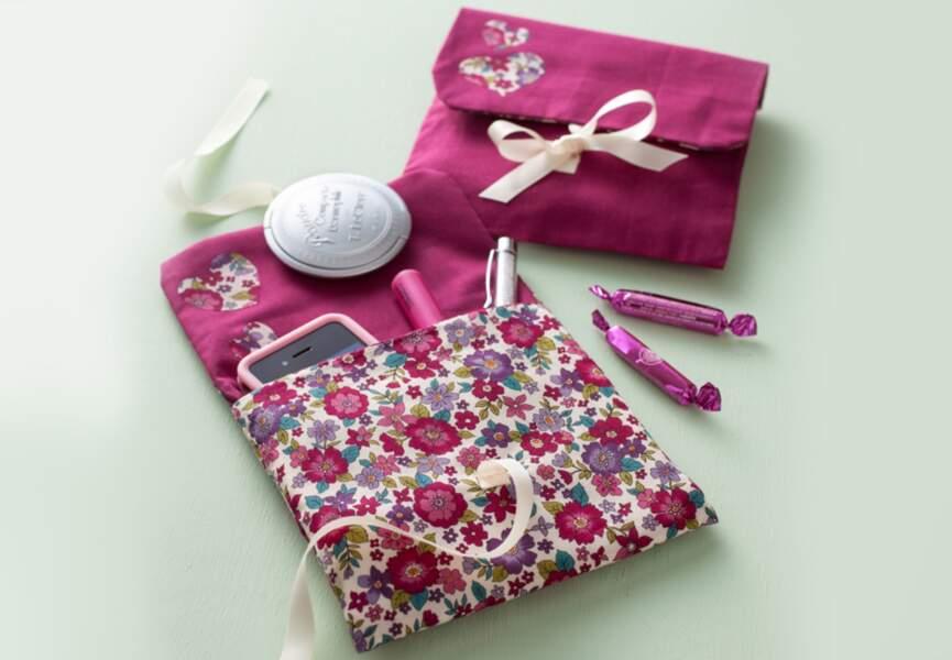 Une pochette de sac girly