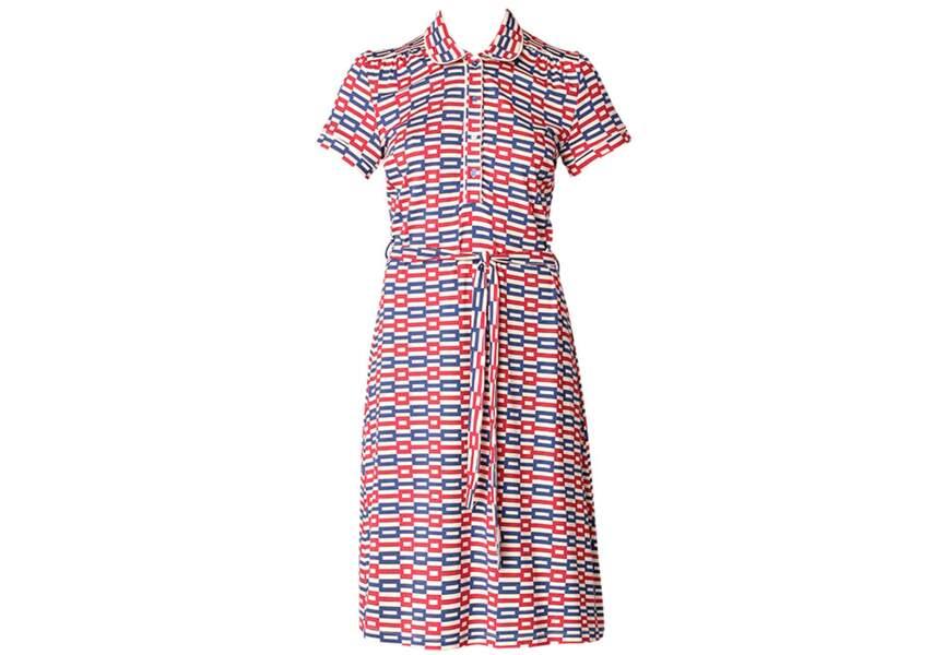 Bleu blanc rouge : la robe graphique