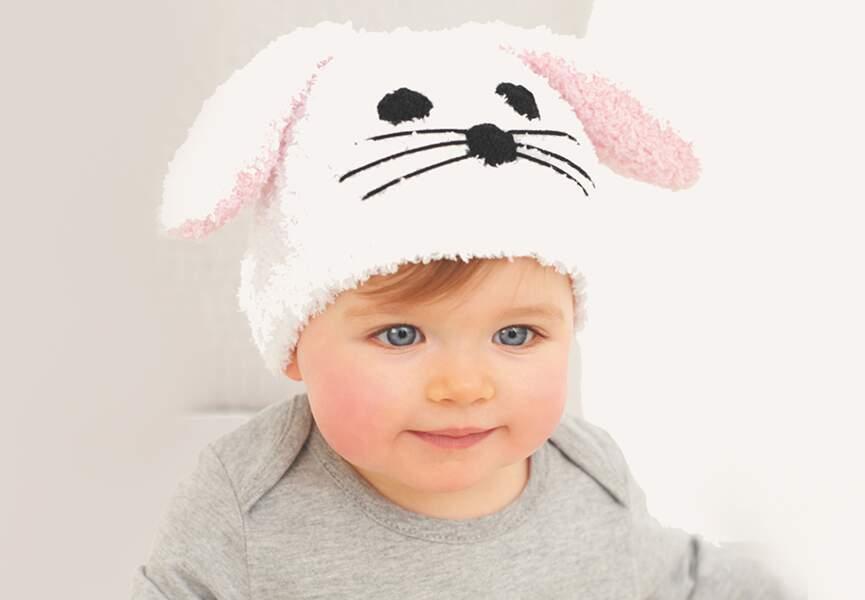 Un bonnet lapin à tricoter
