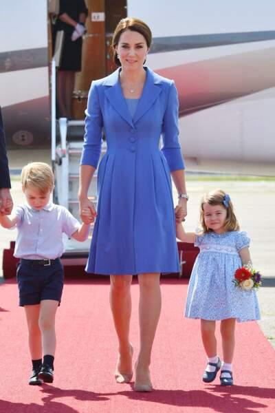 Kate, Charlotte et George