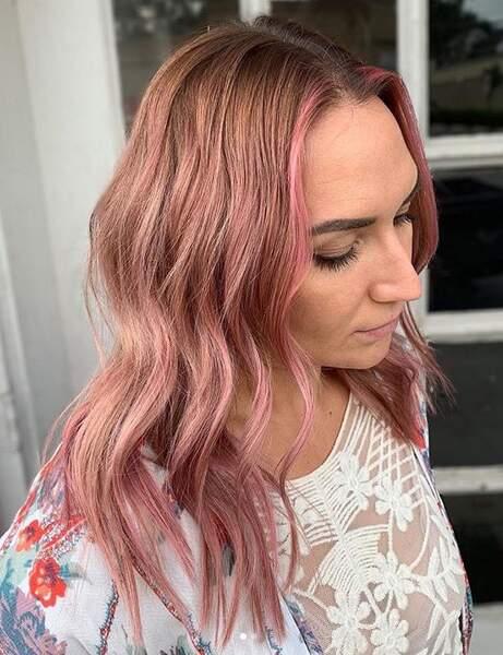 La chevelure rose gold